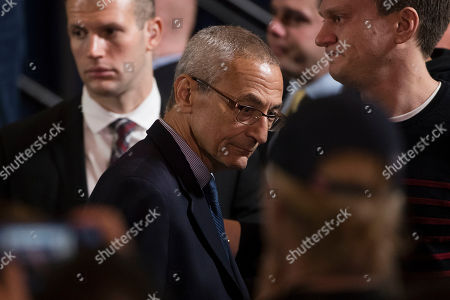 John Podesta, campaign Chair for Democratic presidential candidate Hillary Clinton, stands after Clinton spoke in New York, where she conceded her defeat to Republican Donald Trump after the hard-fought presidential election