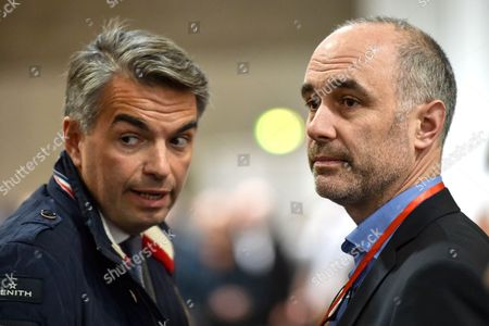 Alain Juppe's campaign directors David Teillet and Gilles Boyer