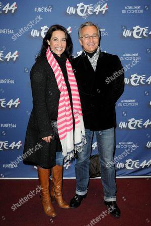 Actress Marie Fugain and TV Presenter Laurent Petitguillaume