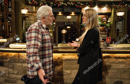 Lawrence is paranoid everyone is is talking about him and insists he was drunk, unaware John McArdle (as Ronnie) heard him. In the Woolpack, Ronnie tells Emily Head (as Rebecca White), Lawrence will never change but she heads back to try and get her dad to put things right once and for all. (Episode 7682 & 7683 - Thur 1st Dec 2016)