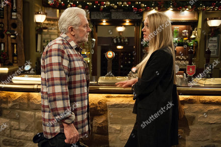 Lawrence is paranoid everyone is is talking about him and insists he was drunk, unaware John McArdle (as Ronnie)heard him. In the Woolpack, Ronnie tells Emily Head (as Rebecca White), Lawrence will never change but she heads back to try and get her dad to put things right once and for all. (Episode 7682 & 7683 - Thur 1st Dec 2016)
