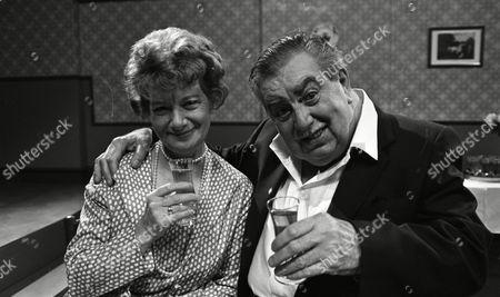 Coronation Street Dec 1983 L567 Jean Alexander (as Hilda Ogden) and Bernard Youens (as Stan Ogden)