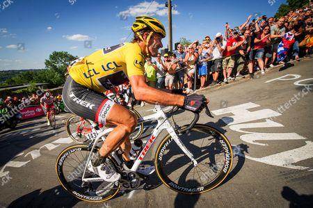 Fabien Cancellara (Sui) who ride with two broken transverse process spine injury - he will retire after the finish