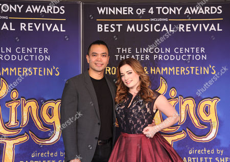 """This photo, Jose Llana, left, and Laura Michelle Kelly appear in New York. Llana will star as the king of Siam, and Laura Michelle Kelly as Anna in the national tour of the Rodgers and Hammerstein classic """"The King and I"""
