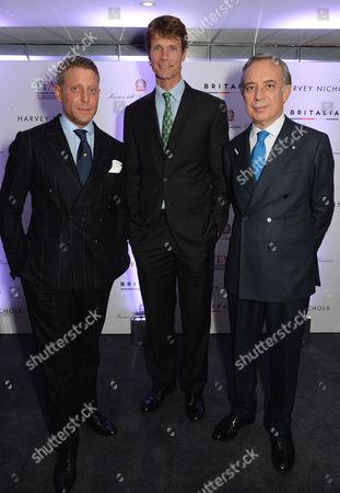 Lapo Elkann, William Fox-Pitt, and Pasquale Terracciano