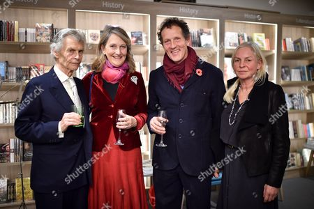 Stock Image of Derry Moore, Alexandra Moore, Monty Don and Sarah Don