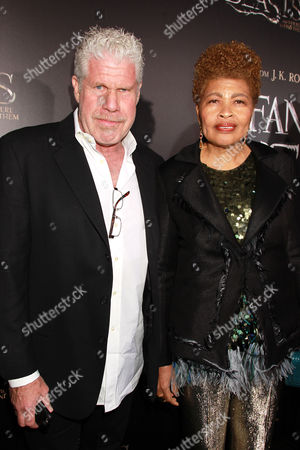 Stock Picture of Ron Perlman and Opal Perlman