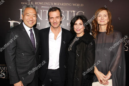 Sue Kroll, David Heyman, Kevin Tsujihara and Rose Uniacke