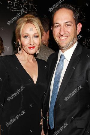 J.K. Rowling and Greg Silverman (Pres; Warner Bros)