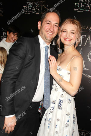 Stock Picture of Greg Silverman (Pres; Warner Bros) and Alison Sudol
