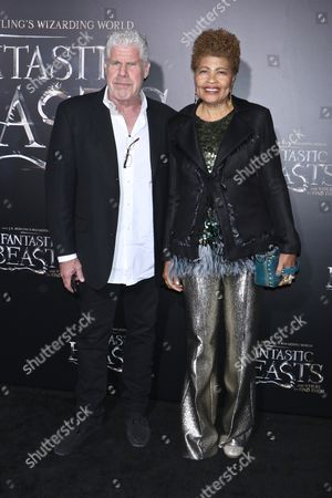 Stock Photo of Ron Perlman and Opal Perlman