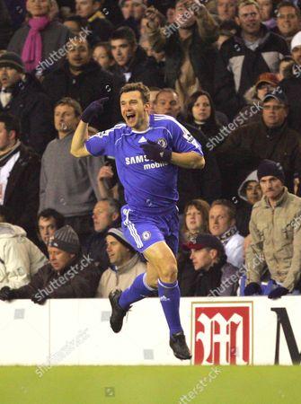 ANDRIY SCHEVCHENKO ( CHELSEA ) CELEBRATES HIS GOAL TOTTENHAM HOTSPUR v CHELSEA F A CUP quarter FINAL REPLY AT WHITE HART LANE 19/03/2007 ENGLAND LONDON