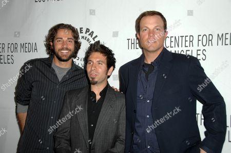 Zachary Levi with Joshua Gomez and Adam Baldwin