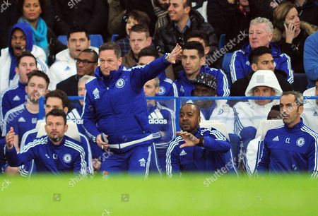 Football - 2015 / 2016 Premier League - Chelsea vs Sunderland Caretaker Managers Steve Holland and Eddie Newton (right) at Stamford Bridge