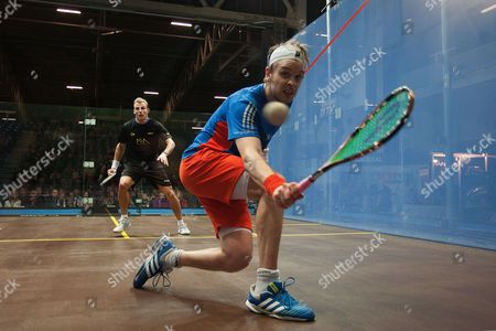 Squash - British Grand Prix Final - National Squash Centre Manchester James Willstrop and Nick Matthews of England in action