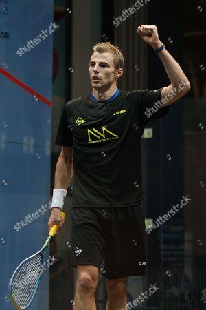 Squash - British Grand Prix Final - National Squash Centre Manchester Nick Matthews of England celebrates victory