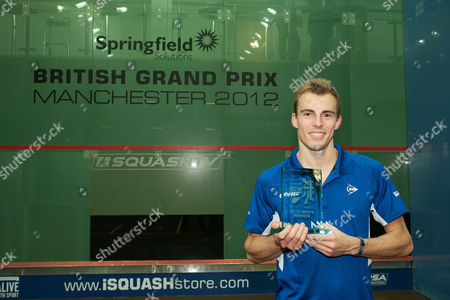 Squash - British Grand Prix Final - National Squash Centre Manchester Nick Matthews of England poses with his trophy following victory