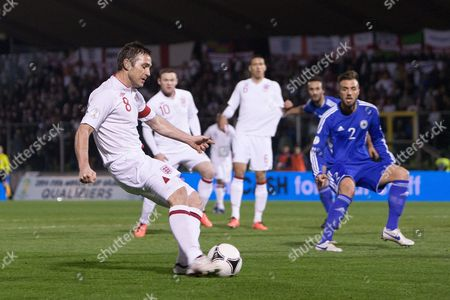 Football - World Cup 2014 Qualifier - San Marino vs England Frank Lampard of England in action at the Olympic Stadium San Marino