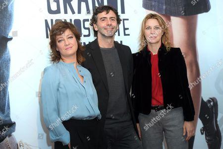 Giovanna Mezzogiorno, the director Luca Lucini, Margherita Buy