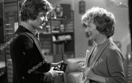 Coronation Street Dec 1979 E494 Don Hawkins (as Trevor Ogden) and Jean Alexander (as Hilda Ogden)