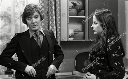 Coronation Street Dec 1979 E494 Don Hawkins (as Trevor Ogden) and Mary Tamm (as Polly Ogden)