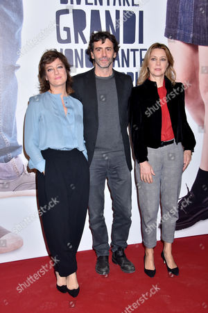 Stock Image of Giovanna Mezzogiorno, Luca Lucini and Margherita Buy