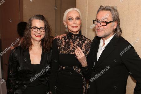 Dr Frances Corner with Carmen Dell'Orefice and David Downton.