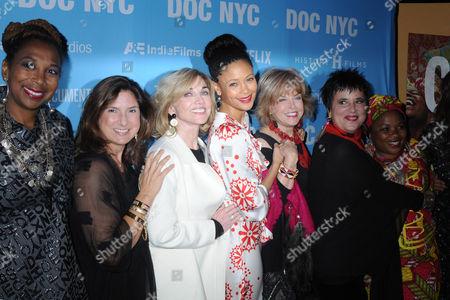 Regina K. Scully, Carole Black, Thandiwe Newton, Pat Mitchell, Eve Ensler, Jane Mukunila