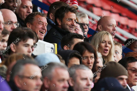 Swindon Chairman Lee Power and Director of Football Tim Sherwood are all smiles during the Sky Bet League One match between Swindon Town and Charlton Athletic played at the County Ground, Swindon on 12th November 2016