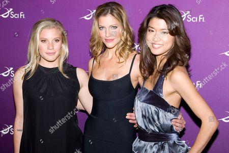 Katee Sackoff, Tricia Helfer and Grace Park