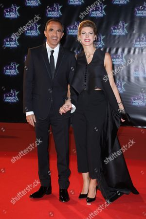 Nikos Aliagas and partner Tina Grigoriou