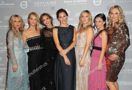 Rachel Zoe, Kelly Sawyer, Jessica Alba, Jennifer Garner, Kate Hudson, Norah Weinstein and Molly Sims