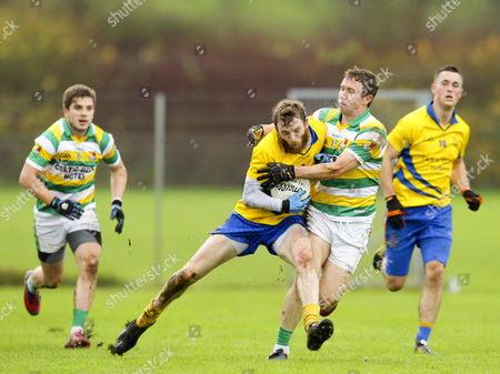 Carbery Rangers vs The Nire. The NireÕs Tom OÕGorman is tackled by John Hayes of Carbery Rangers