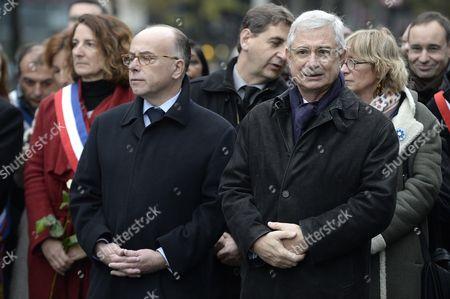 French Interior Minister Bernard Cazeneuve and Claude Bartolone