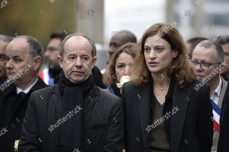 French Justice Minister Jean-Jacques Urvoas and Juliette Meadel