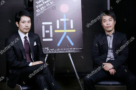 Stock Photo of Kenichi Matsuyama, Yoshitaka Mori Japanese actor Kenichi Matsuyama, left, and film director Yoshitaka Mori, right, are interviewed in Tokyo. The devotion Matsuyama gave to portraying a shogi prodigy who lived a fearlessly single-minded life is clear in the months he spent practicing placing the pawns in the Japanese board game, immersing himself in the master's selfless view on death and gorging to gain weight