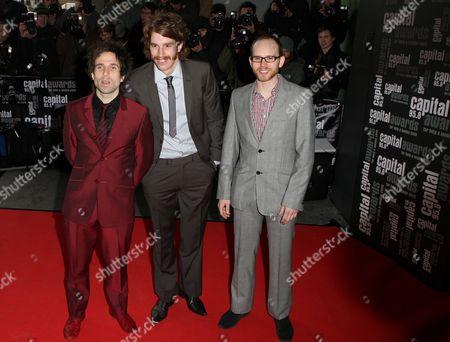 The Hoosiers -Irwin Sparkes, Martin Skarendahl and  Alfonso Sharland