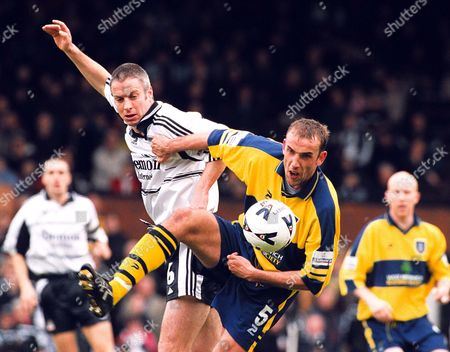 Kit Symons (Fulham) and Tony Butler (WBA) Fulham v West Bromwich Albion Division One 7/4/01 Great Britain London