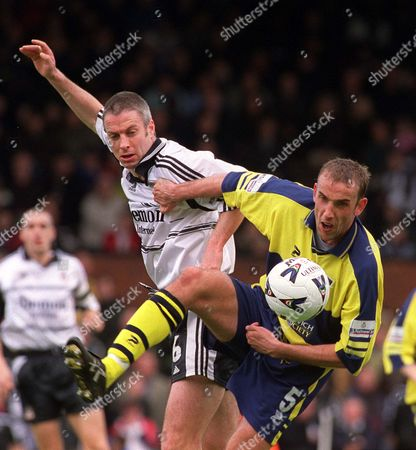 Kit Symons (Fulham) Tony Butler (West Brom) Louis Saha (Fulham) Phil Gilchrist (West Brom) Fulham v West Bromwich Albion 7/ 4/2001 Great Britain London