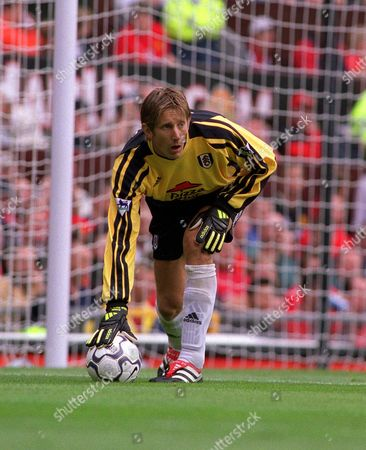 Edwin van der Saar - Fulham Manchester United v Fulham FA Premiership 19/8/01 Great Britain Manchester