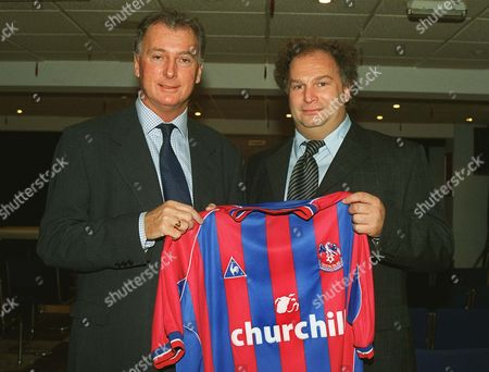 Trevor Francis with his agent Phil Smith Crystal Palace Press conference 30/11/2001  Great Britain London