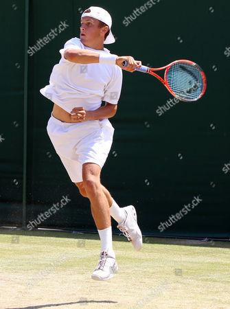 Tennis - The Wimbledon Championships - Jack Carpenter ( GBR ) vs Micke Kontinen ( FIN ) Jack Carpenter ( GBR ) at the All England Lawn Tennis and Croquet Club