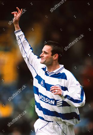 Andy Thompson celebrates scoring for QPR Queens Park Rangers v Tranmere Rovers Division One 17/4/2001 Great Britain London