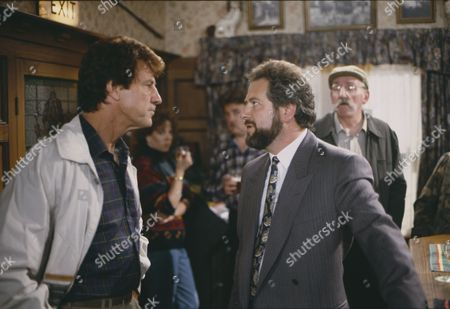 Norman Bowler (as Frank Tate) and David Fleeshman (as Charlie Aindow) (Episode 1596 - 1st October 1991)