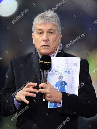 John Inverdale - TV and radio commentator. Scotland v Argentina, BT Murrayfield Stadium, Saturday 19th November 2016. ***Please credit: Fotosport/David Gibson***