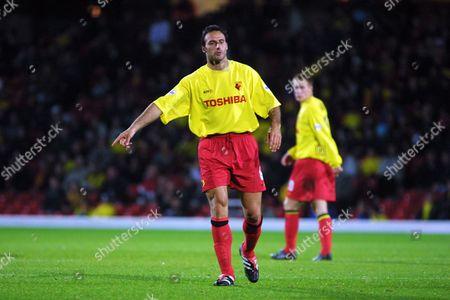Ramon Vega (Watford) Watford v Bradford City Worthington Cup 9/10/2001  Great Britain London