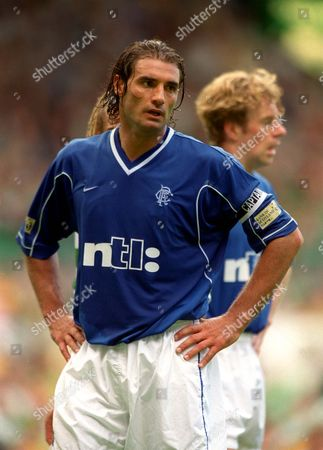 Lorenzo Amoruso (Rangers) Celtic v Glasgow Rangers 27/8/2000 Great Britain Glasgow