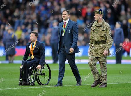 Gordon Reid - Wimbledon disabled mens champion and Mark Robertson - Scotland 7's Olympic medalist