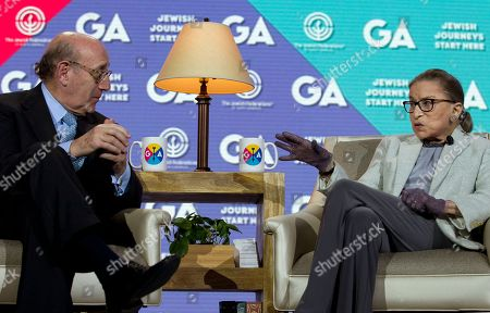 Ruth Bader Ginsburg, Kenneth Feinberg Kenneth Feinberg interviews Supreme Court Associate Justice Ruth Bader Ginsburg as she speaks at The Jewish Federations of North America conference in Washington