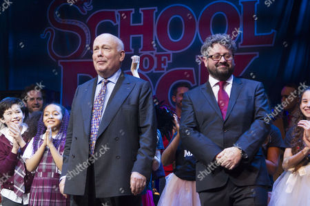 Julian Fellowes (Author) and Laurence Connor (Director) during the curtain call